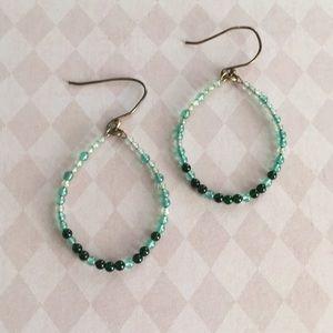 🌸3for$15 Green Beaded Earrings